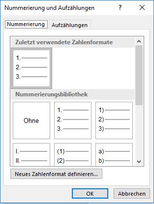Automatische Inhaltsverzeichnisse - erstellen ein Zwischenschritt